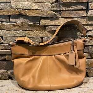 Tan leather coach soho bag